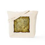 Celtic Letter P Tote Bag