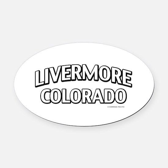 Livermore Colorado Oval Car Magnet
