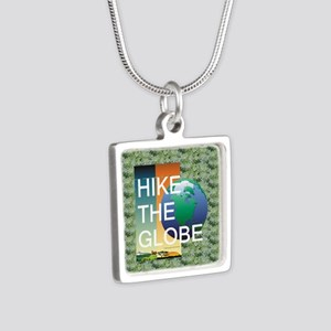 TOP Hiking Slogan Silver Square Necklace