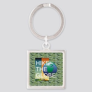 TOP Hiking Slogan Square Keychain