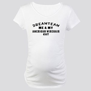 American Wirehair Cat Designs Maternity T-Shirt