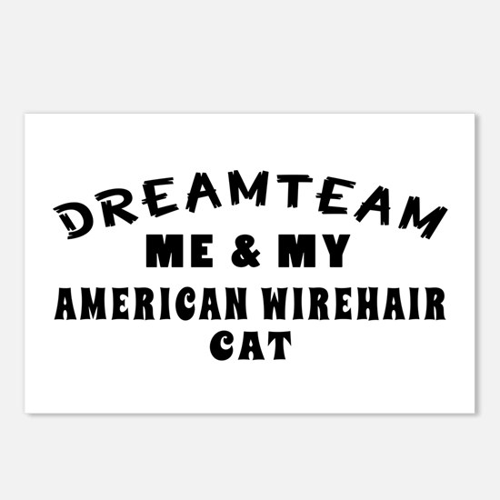American Wirehair Cat Designs Postcards (Package o