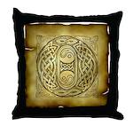 Celtic Letter O Throw Pillow