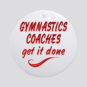 Gymnastics Coaches Ornament (Round)