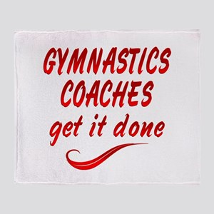Gymnastics Coaches Throw Blanket