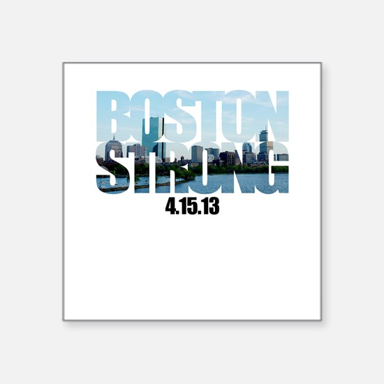 "Boston Strong Skyline Square Sticker 3"" x 3"""