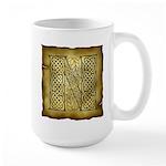 Celtic Letter N Large Mug
