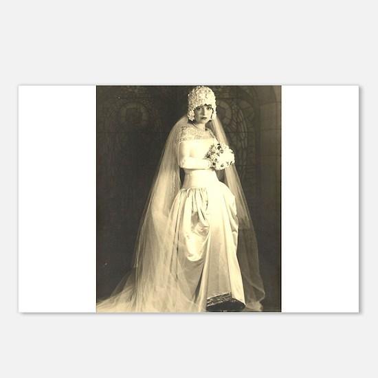 Vintage Wedding the Bride Postcards (Package of 8)