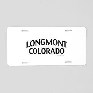 Longmont Colorado Aluminum License Plate