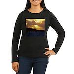 The heavens declare... Women's Long Sleeve Dark T-