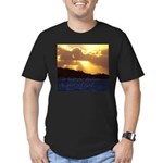 The heavens declare... Men's Fitted T-Shirt (dark)