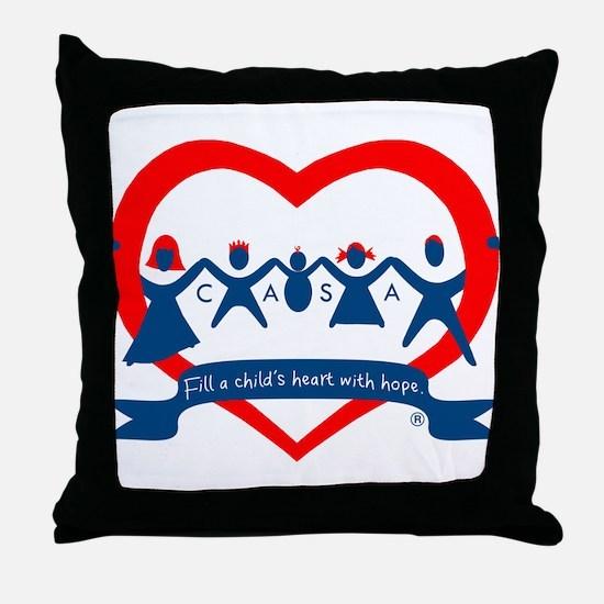 Delaware County CASA Logo Throw Pillow
