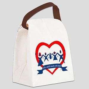Delaware County CASA Logo Canvas Lunch Bag