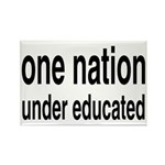 One Nation Under Educated Rectangle Magnet