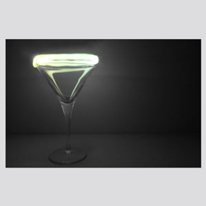 Martini Glass Light Photography Large Poster