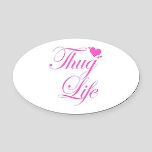 Baby Girl THUG LIFE Oval Car Magnet
