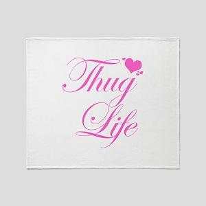 Baby Girl THUG LIFE Throw Blanket