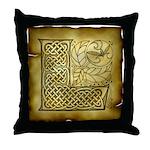 Celtic Letter L Throw Pillow