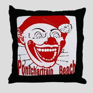 PontchartrainBeachtile2 Throw Pillow