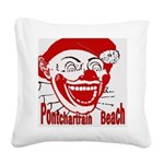 PontchartrainBeachtile2 Square Canvas Pillow