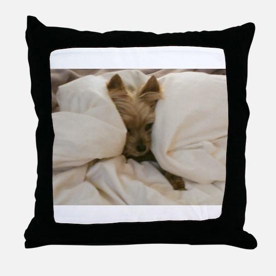 Yorkie Sleepy Throw Pillow