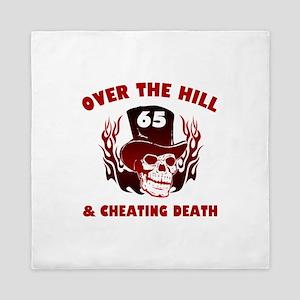 65th Birthday Cheating Death Queen Duvet