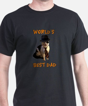 Worlds Best Dad Cat T-Shirt