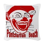 PontchartrainBeachtile2 Woven Throw Pillow