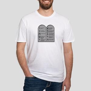 Ten Commandment Fitted T-Shirt
