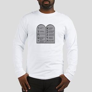 Ten Commandment Long Sleeve T-Shirt