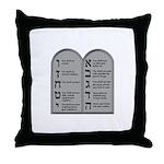 Ten Commandment Throw Pillow