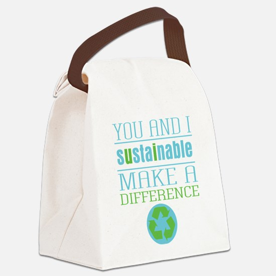 You and I Sustainability Canvas Lunch Bag