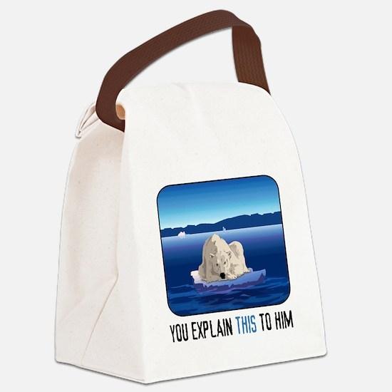 Arctic Polar Bear Canvas Lunch Bag
