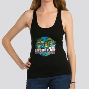 Save Our Planet Racerback Tank Top