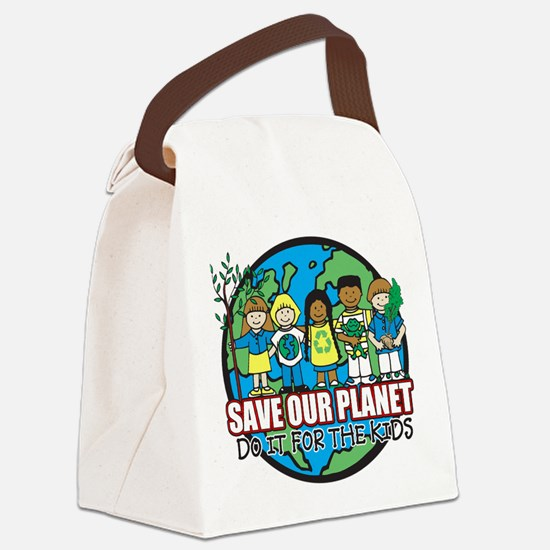 Save Our Planet Canvas Lunch Bag
