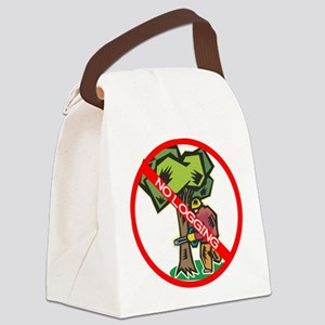 No Logging Canvas Lunch Bag