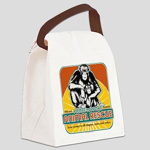 animalrescuechimp Canvas Lunch Bag
