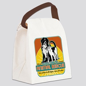 Animal Rescue Dog and Cat Canvas Lunch Bag