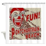 Pontchartrain Beach Clown Shower Curtain