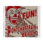Pontchartrain Beach Clown Throw Blanket