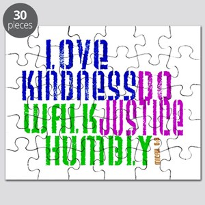 Love Kindness, Walk Gently, Do Justice Puzzle