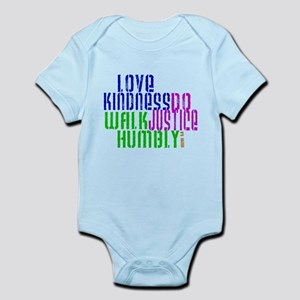 Do Justice Love Mercy Walk Humbly With God Baby Clothes