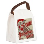 Pontchartrain Beach Clown Canvas Lunch Bag