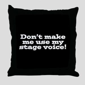 Stage Voice Throw Pillow