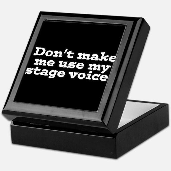 Stage Voice Keepsake Box