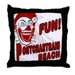 Pontchartrain Beach Clown Throw Pillow