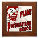 Pontchartrain Beach Clown Framed Tile