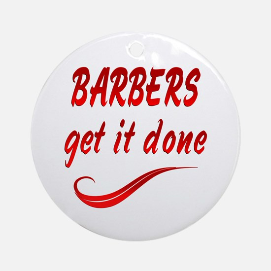 Barbers Ornament (Round)