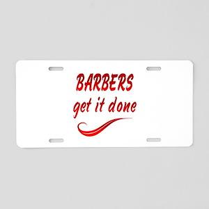 Barbers Aluminum License Plate