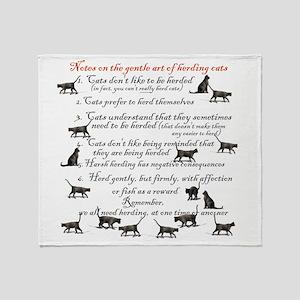 herdingcats4 Throw Blanket